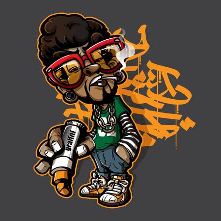 Graffiti character Illustration