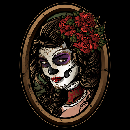 Sugar skull girl  illustration