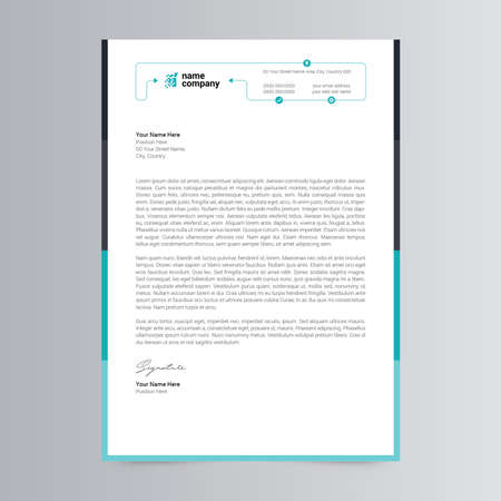 Clean and Corporate Letterhead Template Design Vektorové ilustrace