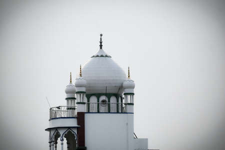 a beautiful view of a mosque countryside of India