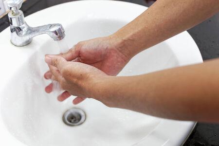 washing hands photo