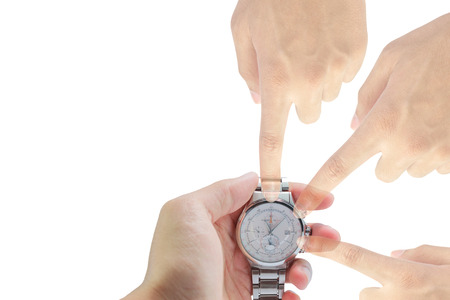 punctual: On Time punctual efficiency concept. Stock Photo