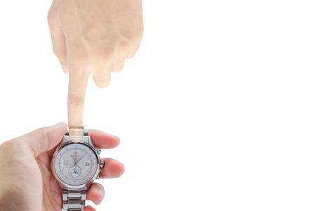punctual: El Tiempo concepto de eficiencia puntual. Foto de archivo