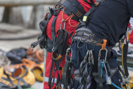 Rope access worker Фото со стока