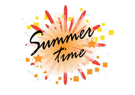 Summer time background, vector illustration eps.10 Иллюстрация