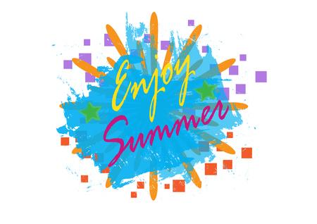 Enjoy Summer background, vector illustration eps.10 Иллюстрация