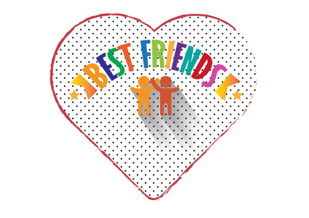 Best friend forever in heart with human icon