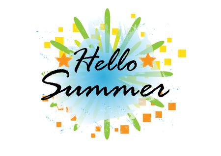 Hello Summer background, vector illustration eps.10