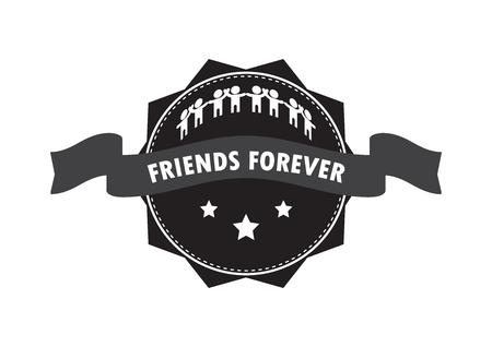 Friend logo badge design vector