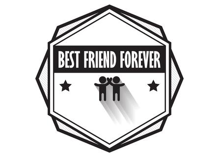Friend logo badge design vector, hipster vintage style