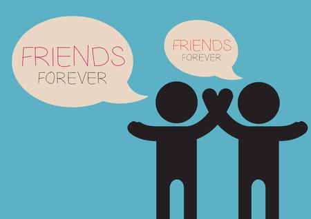 Friends Icon in trendy flat style speech Friend Forever
