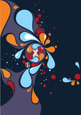 dewdrops: Abstract background Illustration
