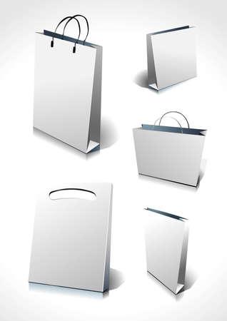 white paper bag: Paper bag Illustration