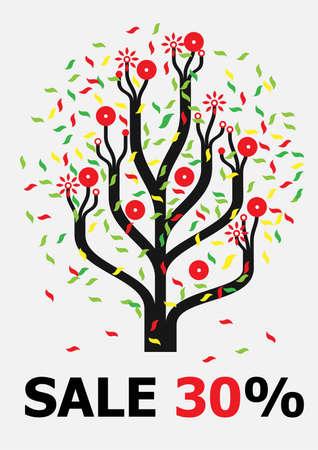 oak tree silhouette: Funny tree
