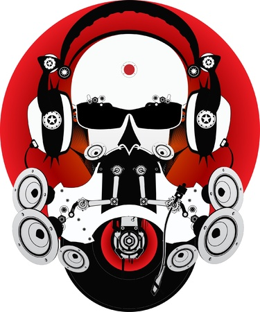 music machine: Fantastic DJ Illustration
