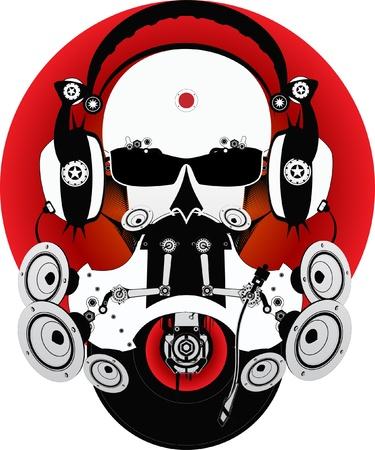 scheibe: Fantastische DJ Illustration
