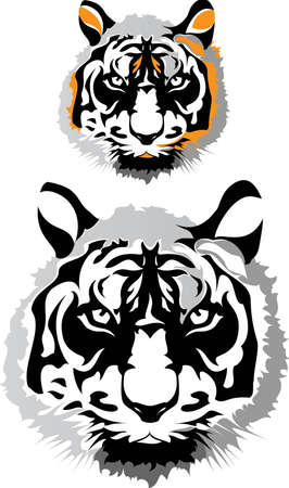 Two tigers Stock Vector - 12566462