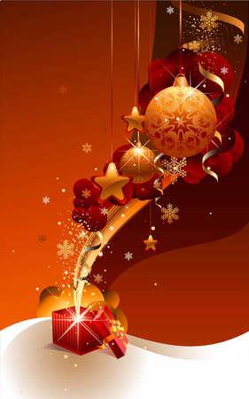 decembe: New Year gift Illustration