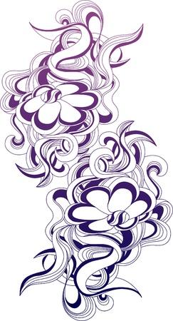Floral illustration for design