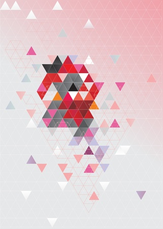 Abstrakte Komposition mit Dreiecken