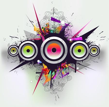 speaker box: Vector musical y urbana