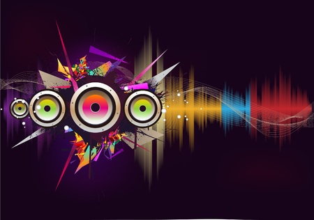 vibrations: Music wave- vector Illustration