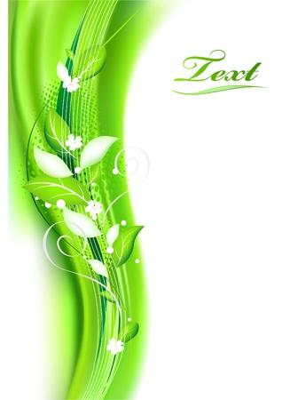 natural beauty: Green vector illustration