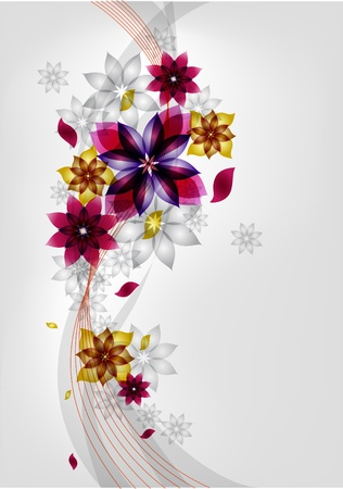 Summer red flower Vector