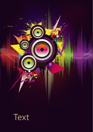 audio wave: Music wave- vector Illustration