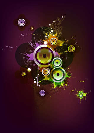 Composition with loudspeaker Stock Vector - 12760283