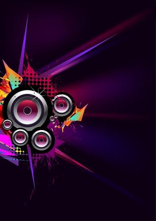 music loudspeaker: For party Illustration