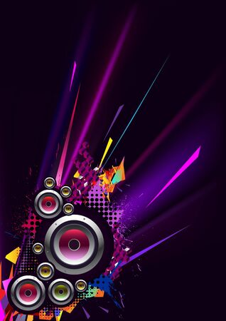discotheque: Musical poster for party Illustration