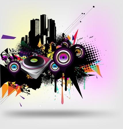red sound: Music urban vector  Illustration