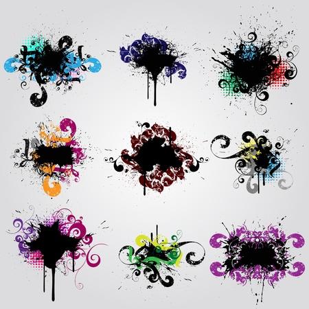 blob: Set grunge design element