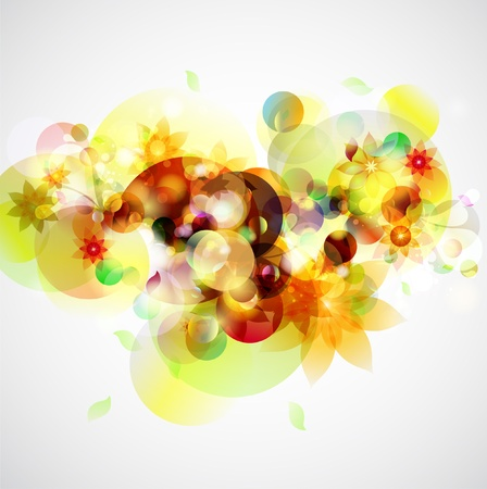 Yellow floral background Stock Vector - 12918101