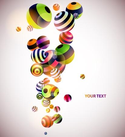 volumetric: Volum�tricas bolas de colores Vectores