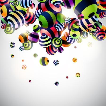 volumetric: Volum�tricas bolas rayadas Vectores