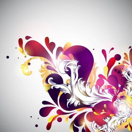 twirl: Floral background  Illustration