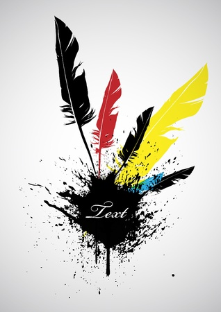 Banner with feathers  Vector