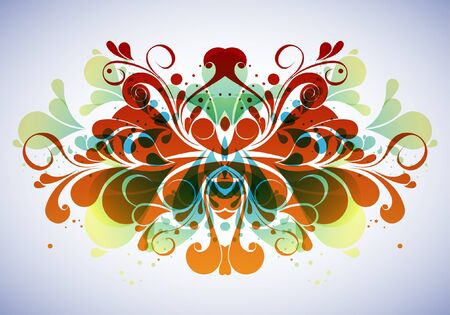 Abstract floral composition Vector