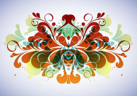 acanto: La composici�n floral abstracto