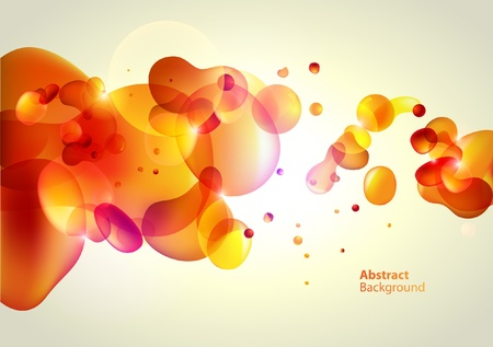 Abstractie gele achtergrond Stock Illustratie
