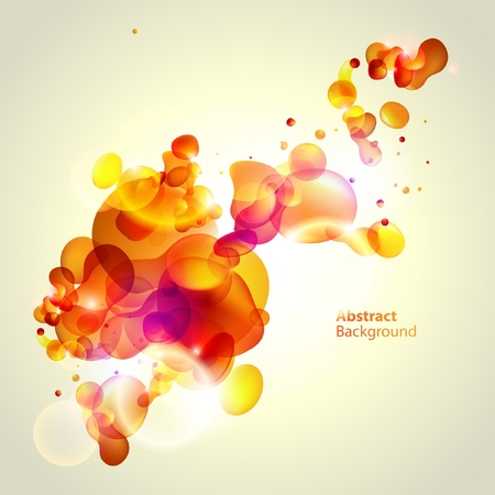 inkblot: Abstraction yellow background