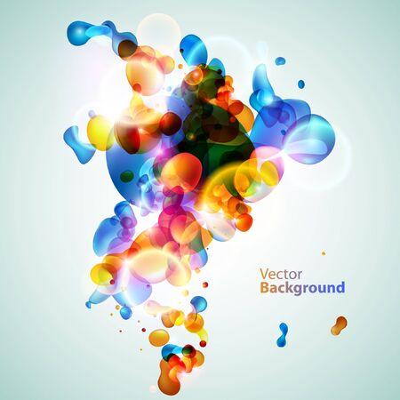 water bubbles: Colorful water bubbles Illustration