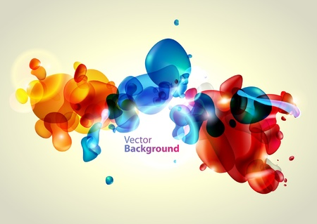 Colorful water bubbles Vector