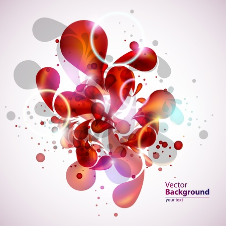 Abstraction red background Vector