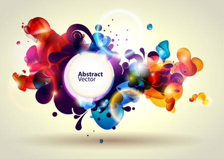 floral abstract: Abstract modern banner