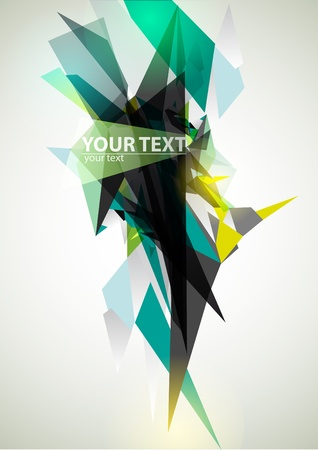 triangle shape: Abstract green banner