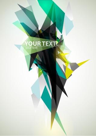 triangulo: Bandera verde abstracto Vectores