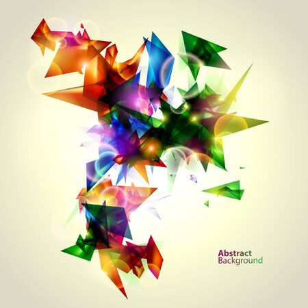 Geometric colorful vector Vector